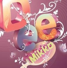 酷炫3D字母插画--07流行风   AI格式图片