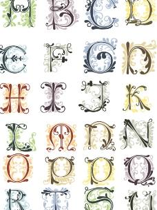 花形字母图片