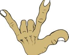 手势造型矢量图图片