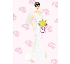 矢量婚礼人物图片