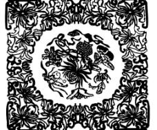 黑白花纹38图片