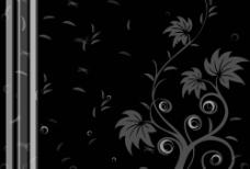 黑底花紋图片