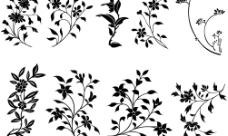 花草装饰矢量图图片