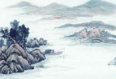 高清晰 山水水墨画,图片