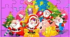 圣诞拼图图片