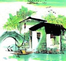 水彩画-春图片