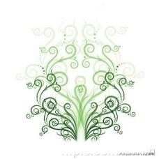 绿色时尚花纹矢量素材图片