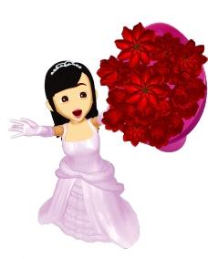 婚纱女图片