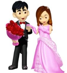 婚纱男女图片