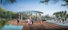 公园绿化效果图图片