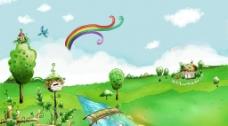 美丽的风景插画壁纸58图片