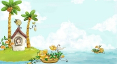 美丽的风景插画壁纸09图片