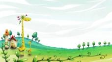 美丽的风景插画壁纸59图片
