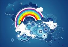 绘画彩虹图片