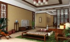 中式家装模型图片
