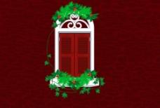 红色圣诞节PSD图图片