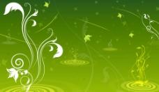 绿色背景模板图片