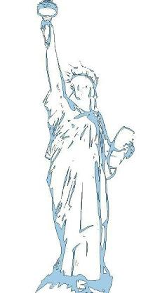 矢量自由女神像图片