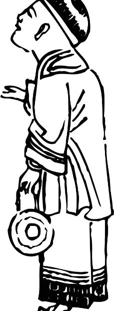 年画 古代纹样背景图片