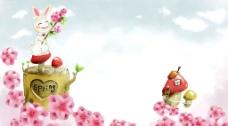 韩国卡通风景图片