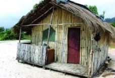 西非沙滩小屋图片