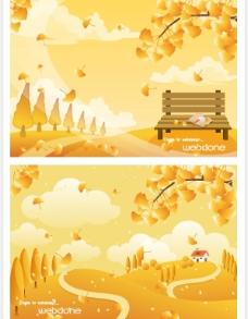 矢量秋季风景系列12图片