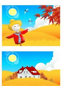 矢量秋季风景系列14图片