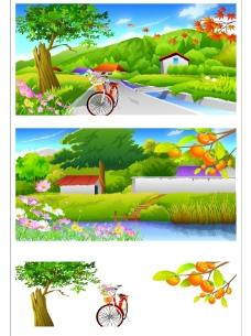 矢量秋季风景系列6图片