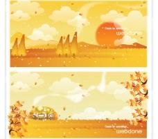 矢量秋季风景系列7图片
