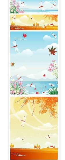 矢量秋季风景系列8图片