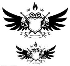 翅膀、盾牌图片