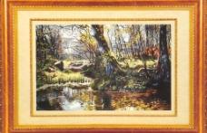 池塘春色图片