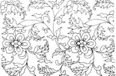 矢量花纹花边素材图片