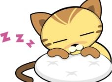 沉睡的猫图片