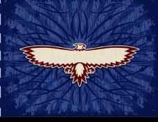 鹰图腾与精美背景矢量素材