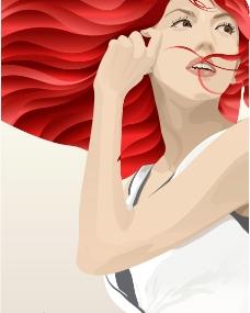 矢量人物 - 妇女女性图片