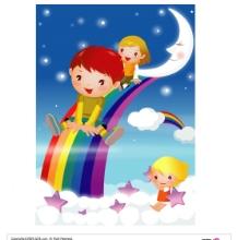 卡通儿童AI图片
