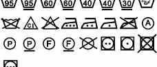 国际通用水洗符号图片