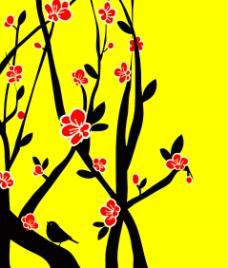 梅花分层图片